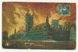 YPRES VIAGGIATA ANNO 1917  FP - Belgio