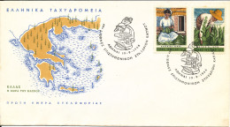 Greece FDC 19-9-1966 International Tobacco Convention Set Of 2 With Cachet - FDC