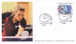 """FDC FRANCE LUXE Premier Jour 2013  """" Championnat Du Monde De TENNIS De Table """" Féminin - Tennis De Table"""
