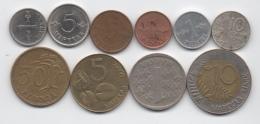 Finlande : Lot De 10 Pièces 1955-1994 Dont 1 BIMETAL - Finlandia