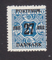 Denmark, Scott #146, Mint Hinged, Number Surcharged, Issued 1918 - 1913-47 (Christian X)