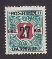 Denmark, Scott #154, Mint Hinged, Number Surcharged, Issued 1918 - 1913-47 (Christian X)
