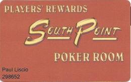 South Point Casino - Las Vegas, NV - Poker Room Players Rewards Card - Casino Cards