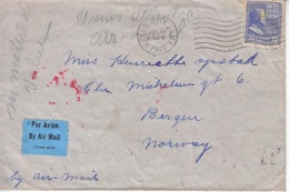 U.S. POSTAL  HISTORY  PREXIE  COVER  CENSORED OCCUP. NORWAY  SINGLE FRANKING - United States