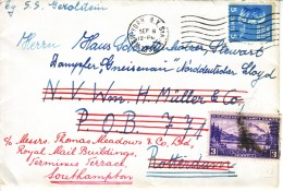 U.S. POSTAL  HISTORY  PREXIE  COVER   SINGLE FRANKING ADDED POSTAGE  FORWARDED - United States