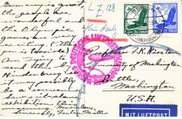 GERMANY  OLYMPICS  ZEPPELIN  TO U.S.  SEE BACK  AEROPLANE - Airmail