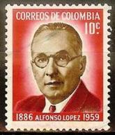 COLOMBIA 1961.03.22 [1011-1] 75 Años Del Nacimiento De Alfonso Lopez - Used - Colombia