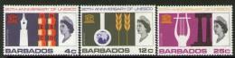 BARBADOS, 1966 UNESCO 3 MH - Barbades (...-1966)