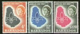 BARBADOS, 1962 SCOUTS 3 MNH - Barbades (...-1966)