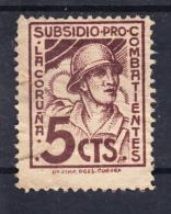 LA CORUÑA.SUBSIDIO PRO COMBATIENTES.5 CENT CASTAÑO.USADO .SES035 - Emissions Nationalistes
