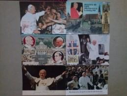 JOHN PAUL II POPE - 12 POSTCARDS - Päpste