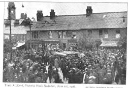 TRAM ACCIDENT VICTORIA ROAD SWINDON JUNE IST 1906    ***  SUPERBE    A   SAISIR ***** - Angleterre