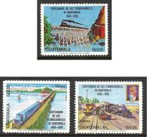 GUATEMALA 1983 Trains. P.A. N° 762 à 764 * * Neufs Lot - 1186 - Trains