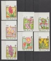 LAOS 1986  IMPERF/NON DENT FLEURS/FLOWERS  Complete Set   Réf  E7252 - Laos