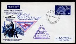 A4091) Australia Australien Brief Von Sonderflug 23.11.57 Mit Unterschrift - Erst- U. Sonderflugbriefe