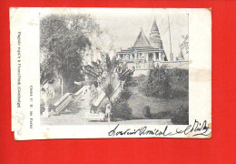 Asie - CAMBODGE - Pagode Roya's à Phnom- Penh (état : Coins) - Cambodge