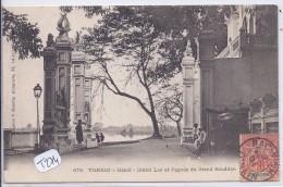 TONKIN--HANOI- GRAND LAC ET PAGODE DU GRAND BOUDDAH - Postcards