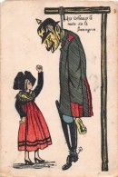 Illustrateur  -  Guerre 1914-18  -  Aux Corbeaux Le Reste De La Besogne  -  Pendu  -  Carte Patriotique   -  Alsacienne - Patriotiques