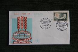 Enveloppe F.D.C. - 1er Jour D´Emission -  Campagne Mondiale Contre La Faim - PARIS - MARS 1963 - FDC