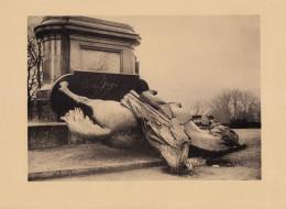 1920 - Héliogravure - Metz (Moselle) - La Statue De Guillaume 1er Jetée Au Bas De Son Piédestal - FRANCO DE PORT - 1914-18