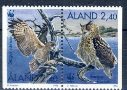 ##Aland 1996. Owls. Pair. Michel 109-10. MNH(**) - Aland