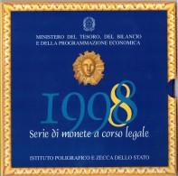 ITALIA - ANNO 1998 - SERIE DI MONETE A CORSO LEGALE - DIVISIONALE LIRA 1998 - 12 VALORI - IN CONFEZIONE ORIGINALE - - Monedas