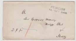 Mes017 / Stargard, 2-Zeiler Mit Jahreszahl 1860.Schöner Abschlag. - Mecklenburg-Schwerin