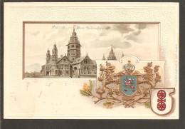 Mainz. Dom. Wappen Präge- Karte - Mainz