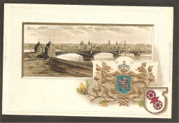 Mainz.Rheinbrücke. Wappen Präge- Karte - Mainz