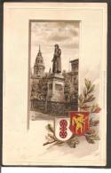 Mainz.Gutenberg Denkmal. Wappen Präge- Karte - Mainz