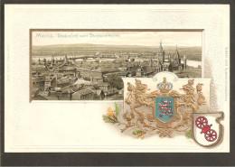 Mainz.Total Ansicht Vom Stephansturm. Wappen Präge- Karte - Mainz