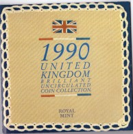 INGHILTERRA - UNITED KINGDOM - ANNO 1990 - BRILLIANT UNCIRCULATED COIN COLLECTION - ROYAL MINT - SPECIAL PRICE - - Monete