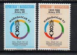 1997 Madagascar Malagasy  Francophone Games Athletics  Complete Set Of 2 MNH - Madagaskar (1960-...)