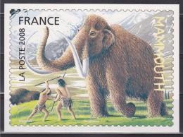 = Carte Postale Création Christian Broutin Représentation Timbre 4178 Phil@poste Faune Préhistorique Le Mammouth - Stamps (pictures)