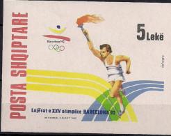 1992 Albanien Mi. Bl  96 **MNH Olympische Sommerspiele, Barcelona - Albanie
