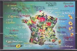 """= Carte Postale La Poste Rend Hommage à """"La France Comme J'aime"""" Carte De France Reprenant Les Différents Thèmes - Post"""