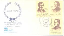 PERSONALIDADES ARGENTINAS III  FRANCISCO NARCISO DE LAPRIDA ESTANISLAO LOPEZ FRANCISCO RAMIREZ SERIE COMPLE