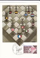 CPSM CHAMPIONNATS D ECHECS  TIMBRE MAXIMUM 1 ER JOUR JUIN 1974 NICE - Chess
