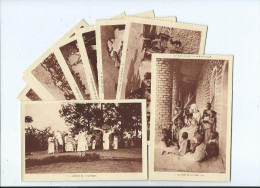 MISSIONS D´AFRIQUE Lot De 9 Cartes-scan R/V (Mission Religion)*ETAT=voir Description (Soeurs Blanches Birmandreis Alger) - Missions