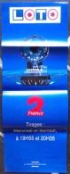 FDJ LA FRANCAISE DES JEUX  AFFICHE PUBLICITAIRE NEUVE PLIÉE DIMENSION 80 X 30 Cm LOTO AVEC FRANCE 2 TÉLÉVISION - Posters