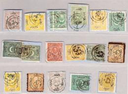 Türkei 1865-1875 Lot Von 17 Marken Auf Briefstück - 1858-1921 Empire Ottoman