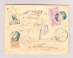 Türkei 1887 R-Brief Von Constantinopel Nach Mannheim Mit 2piastres Und 2x20paras - 1858-1921 Empire Ottoman