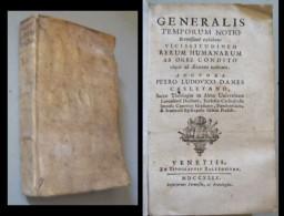 DANES PETRO LUDOVICO. Generalis Temporum Notio Brevissime Exhibens Vicissitudinem Rerum Humanarum Ab Orbe Condito - Libri, Riviste, Fumetti