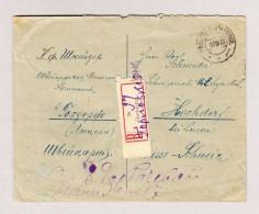 Russland Gorlovka 23.9.1922 R-Brief Ohne Frankatur Nach Hochdorf - 1917-1923 République & République Soviétique