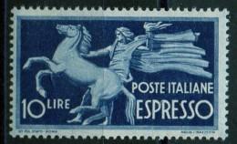 PIA - ITALIA - Specializzazione - 1947 : Espresso  £ 10 - (SAS  26 - CARRARO  2) - 6. 1946-.. Repubblica
