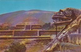 Mexico Mexique San Juan - Zona Arqueologica Teotihuacan - Templo De Quetzalcóatl - 2 Scans - Mexico