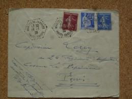Enveloppe Affranchie Oblitération Cachet à Date Agence Postale Héxagonal Martel De Janville - Marcophilie (Lettres)
