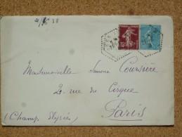 Enveloppe Affranchie Oblitération Cachet à Date Agence Postale Héxagonal Sées - Marcophilie (Lettres)