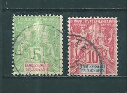 Timbre D´océanie De 1900/07  N°14/15  Oblitérés - Oceanía (1892-1958)