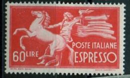 PIA - ITALIA - Specializzazione - 1947 : Espresso  £ 60- (SAS  31 - CARRARO  7) - 6. 1946-.. Repubblica